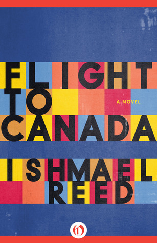 A cover of Flight to Canada with individual letters in colored boxes.